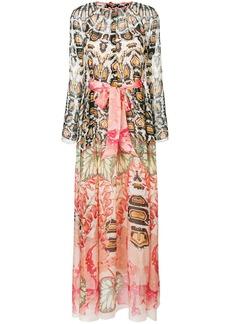 Temperley London printed tie waist maxi dress - Pink & Purple