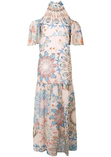 Temperley London Quartz printed dress - Pink & Purple