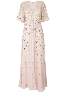 Temperley London Topiary v-neck dress - Pink & Purple