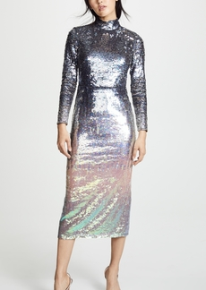 Temperley London Ruth Sequin Fitted Dress