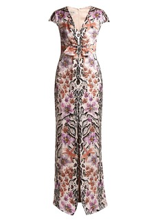 Temperley London Safari-print silk dress