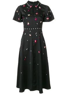 Temperley London Saturn collar dress - Black