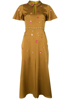 Temperley London Saturn collar dress - Yellow & Orange
