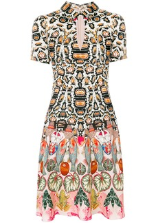 Temperley London Spiral printed mini dress - Multicolour
