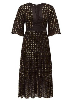 Temperley London Suki metallic fil-coupé midi dress
