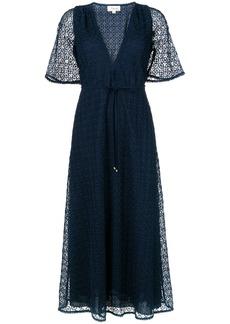 Temperley London Sunrise v-neck dress - Blue