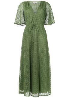 Temperley London Sunrise v-neck dress - Green