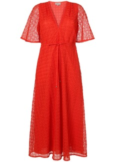 Temperley London Sunrise v-neck dress - Red