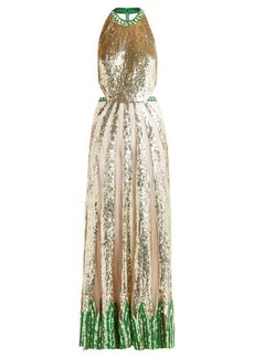 Temperley London Sycamore sequinned maxi dress