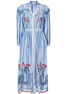 Temperley London Trelliage shirt dress - Blue
