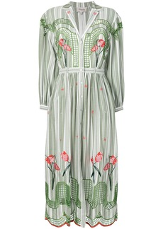 Temperley London Trelliage shirt dress - Green