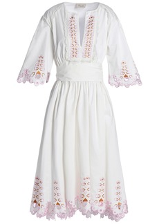 Temperley London Woman Amour Broderie Anglaise Cotton-poplin Dress White
