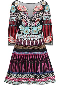 Temperley London Woman Aura Embroidered Tulle And Silk-blend Organza Mini Dress Black