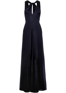 Temperley London Woman Aviator Open-back Satin Gown Midnight Blue