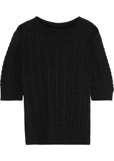 Temperley London Woman Cable-knit Mohair-blend Sweater Black