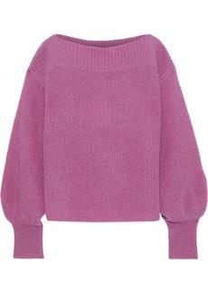 Temperley London Woman Bessie Mohair-blend Sweater Lavender