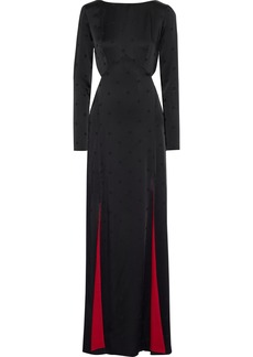 Temperley London Woman Betty Cutout Satin-jacquard Gown Black