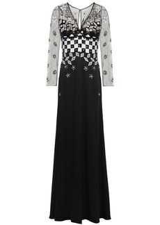 Temperley London Woman Embellished Tulle And Satin-crepe Gown Black