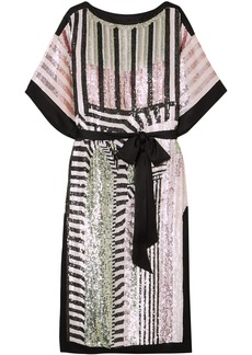 Temperley London Woman Idol Sequined Tulle Midi Dress Pink