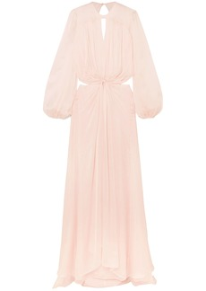Temperley London Woman Lullaby Open-back Silk-chiffon Maxi Dress Pastel Pink