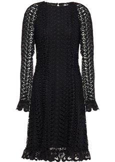 Temperley London Woman Sunbird Guipure Lace Mini Dress Black