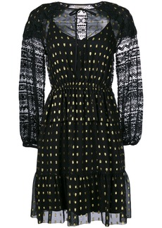 Temperley London Wondering lace-detail dress - Black