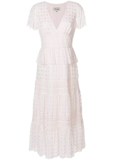 Temperley London Wondering lace dress - Pink & Purple