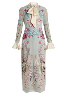 Temperley London Woodland floral-embroidered silk-chiffon dress