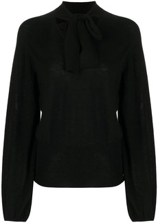 Temperley tied neck blouse