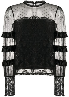Temperley tiered lace blouse