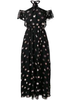Temperley velvet star twist dress