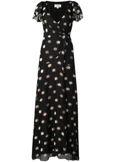 Temperley velvet star wrap dress