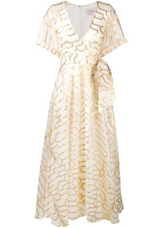 Temperley wrap style full-length dress