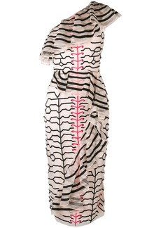 Temperley zebra style embroidered dress