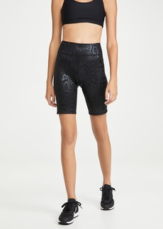Terez Black Snakeskin Foil Bike Shorts