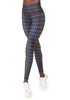 Terez Rainbow Stripe High Waist Leggings