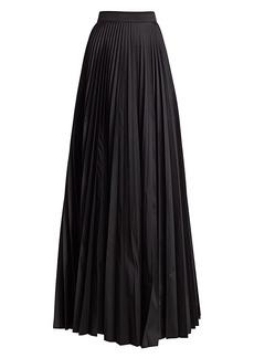 Teri Jon Accordion Pleated Taffeta Skirt