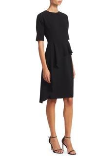 Teri Jon Asymmetric Ruffle Sheath Dress