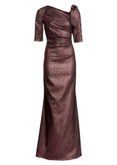Teri Jon Bow Metallic Gown