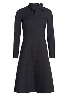 Teri Jon Button-Down A-line Dress
