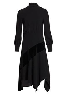 Teri Jon Crepe Midi Dress