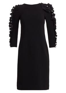 Teri Jon Embellished-Sleeve Cocktail Dress