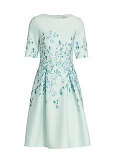 Teri Jon Floral A-Line Cocktail Dress