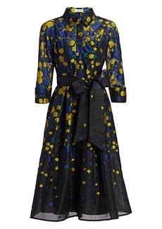 Teri Jon Floral Bow Shirt Dress