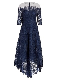 Teri Jon Floral Lace A-Line Dress