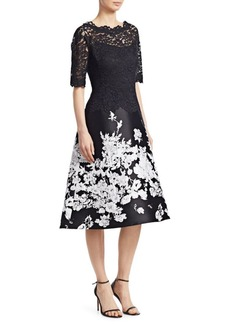 Teri Jon Floral Midi Dress