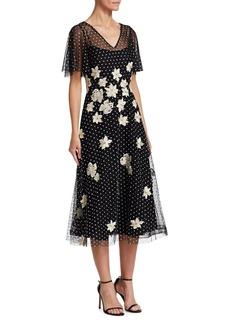 Teri Jon Flutter Sleeve Dress