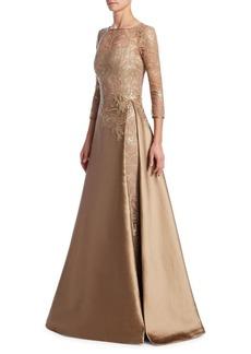 Teri Jon Illusion Top Gown