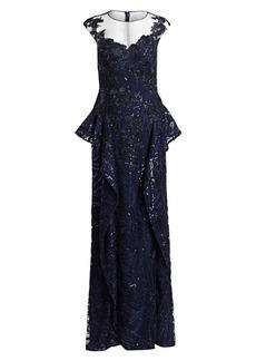Teri Jon Lace & Sequin Gown