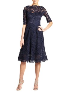 Teri Jon Lace Flared Dress